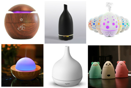Many types of diffusers - useful and decorative